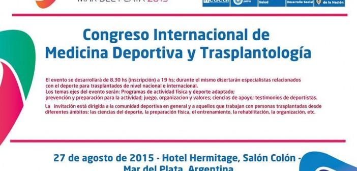 CONGRESO INTERNACIONAL DE MEDICINA DEPORTIVA Y TRASPLANTOLOGÍA